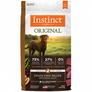 instinct alimento para perro original pato