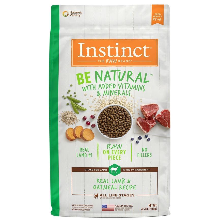 instinct alimento para perro be natural cordero