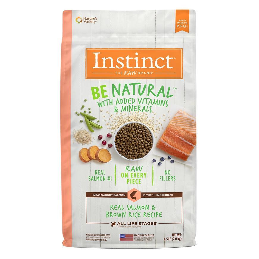 croquetas para perro instinct alimento para perro be natural salmon